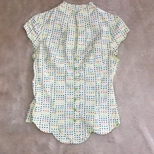 Anthropologie Odille Heart Print Blouse